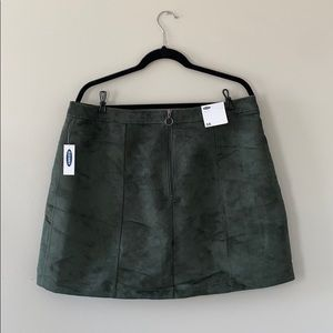 Green Old Navy Suede Mini Skirt